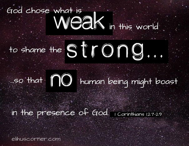 God chose what is weak