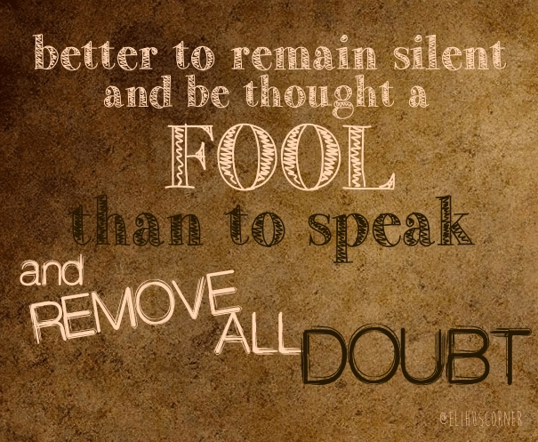 fool quote