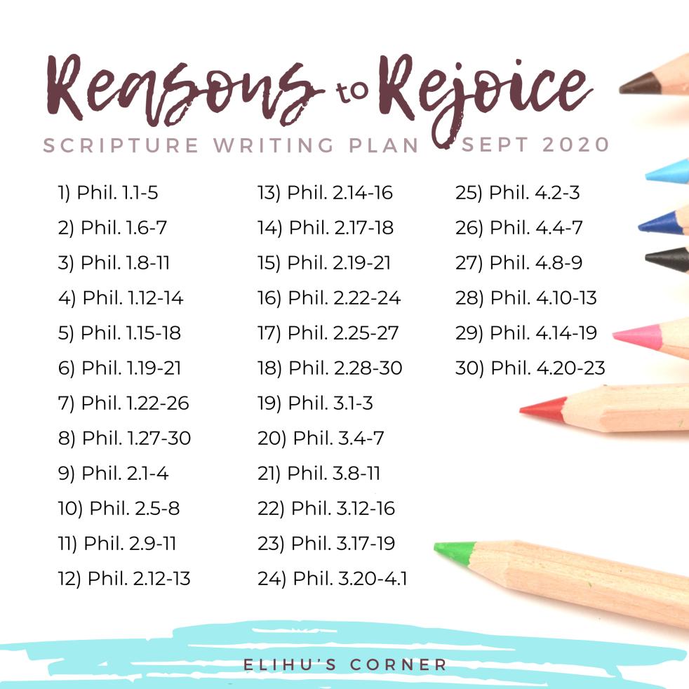 Scripture Writing Plan